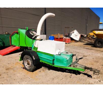 Дробилка за клони GreenMech Eco Combi 150, ремарке
