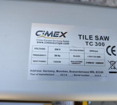 Отрезна маса за плочки CIMEX TC300-860 image 3