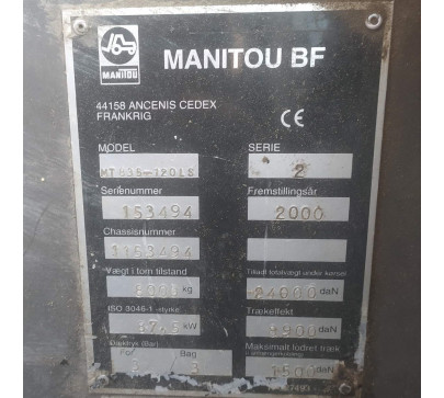 Телескопичен товарач MANITOU MT 835 ПО ДОГОВАРЯНЕ image 12
